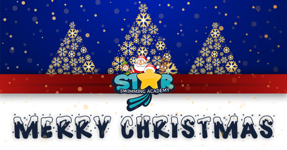 Star Swimming Academy Merry Christmas Banner 2020