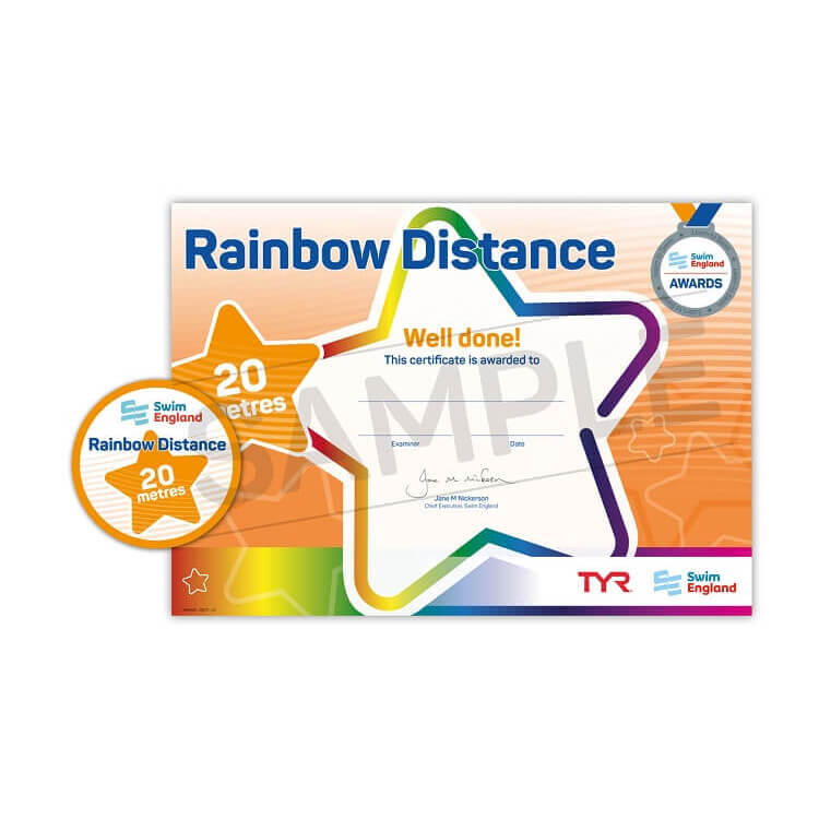 Star Swimming Academy Online Shop - Learn to Swim - Rainbow 5m Distance Award