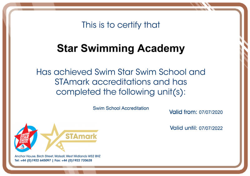 STAmark and Swim Star Swim School