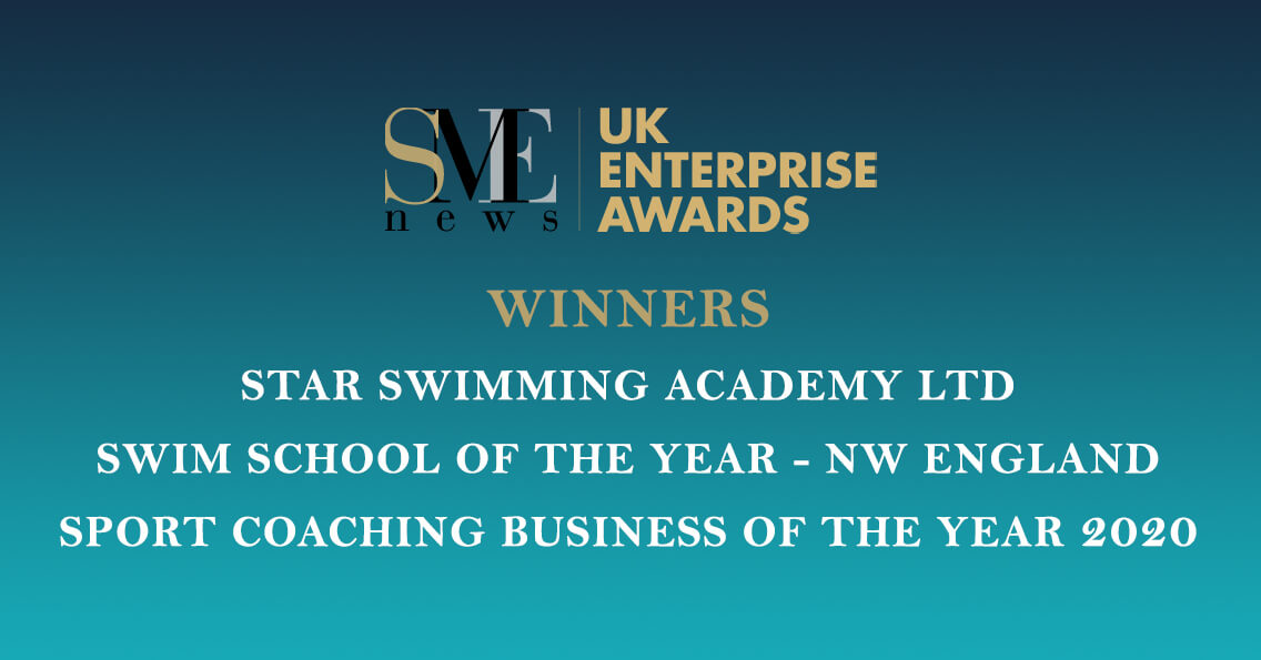 UK Enterprise Awards Logo Notification Banner Star Swimming Academy