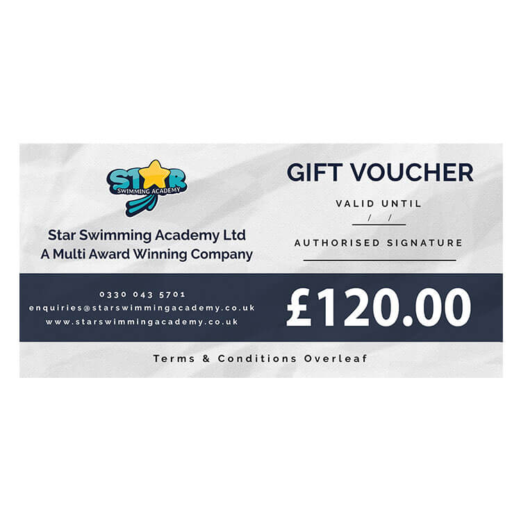 Star Swimming Academy £120 Gift Voucher Sample